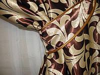 Комплект готовых штор  блэкаут, двусторонний. Цвет коричневый  044ш (А) 3м.