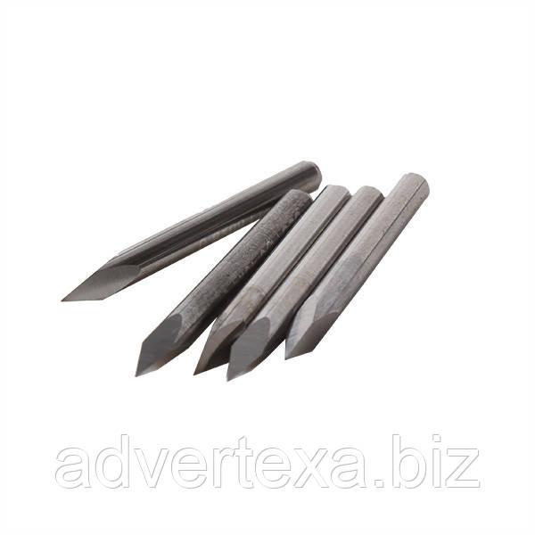 Фреза 0.1мм 45 градусов, пирамида, 3.175мм из вольфрамовой стали с общей длиной 31.5мм для гравировки