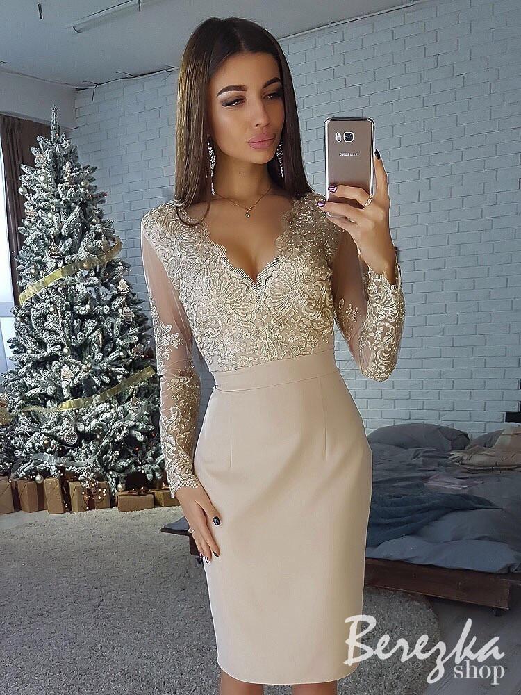946d2a72d53 Шикарное женское вечернее платье-футляр (кружево