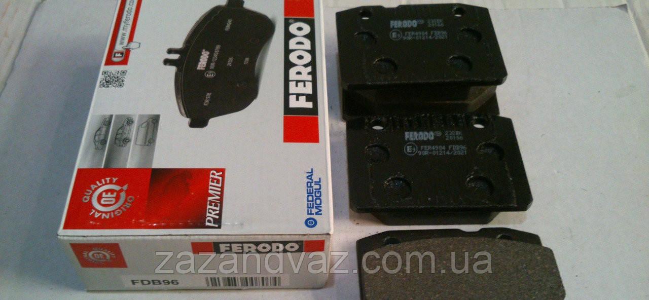 Колодка тормозная передняя ВАЗ 2101-2107 Ferodo красная FE FDB96
