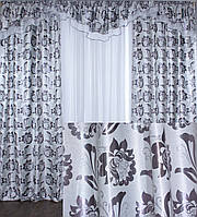 "Комплект ламбрекен  со шторами  из ткани блекаут ""Жасмин"" Код 089лш212(Б)"