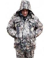 Костюм утеплённый, для охотников и рыбаков, полукомбинезон и куртка, из мембраны ворса, на синтепоне, размеры