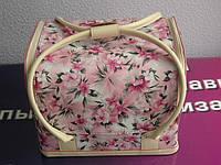Сумка -чемодан для мастеров индустрии красоты с цветным принтом