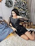 Женское шикарное платье расшитое пайетами и жемчужинками. Качество Люкс., фото 2
