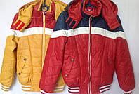 Куртка ветровка детская для мальчика оптом 30-38 горчица