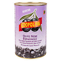Маслини чорні без кісточки 4300/2000р, Coopoliva Іспанія