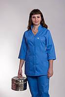 Женский медицинский брючный костюм синего цвета(42-66 р)