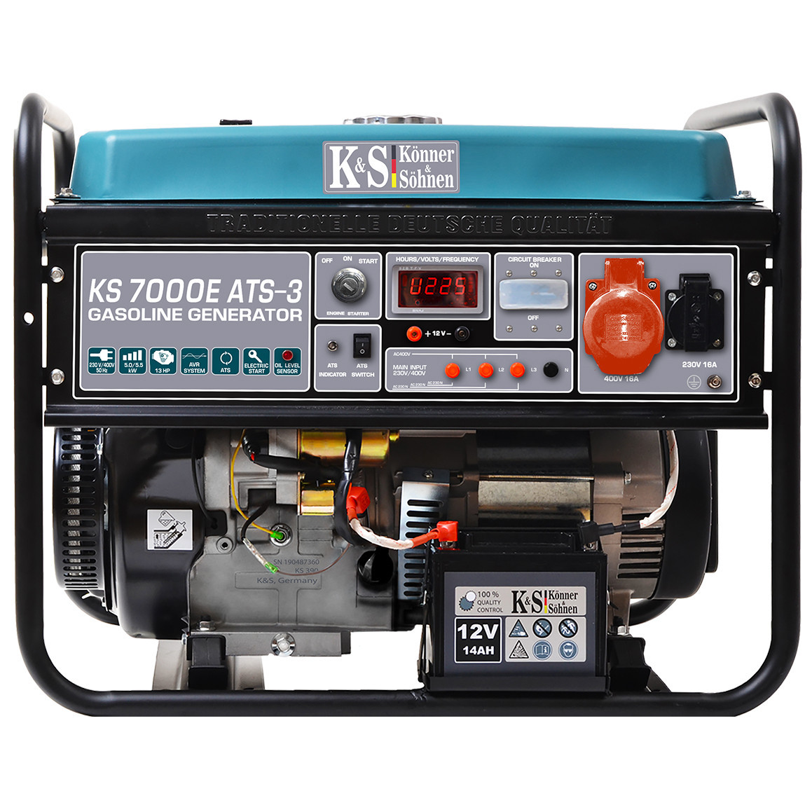 Бензиновый генератор Könner&Söhnen KS 7000Е - 3 ATS