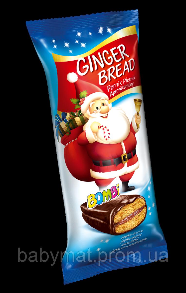 Рождественский пряничный батончик  с яблоком и корицей в шоколадной глазури Bombi Figaro