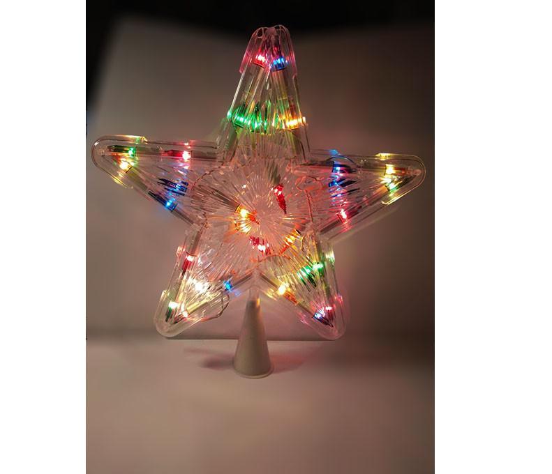 Верхушка на елку Звезда, 28 лампочек, 25 см праздничное освещение - фото 1