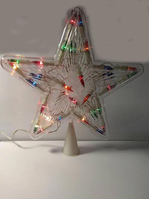 Верхушка на елку Звезда, 28 лампочек, 25 см праздничное освещение - фото 2