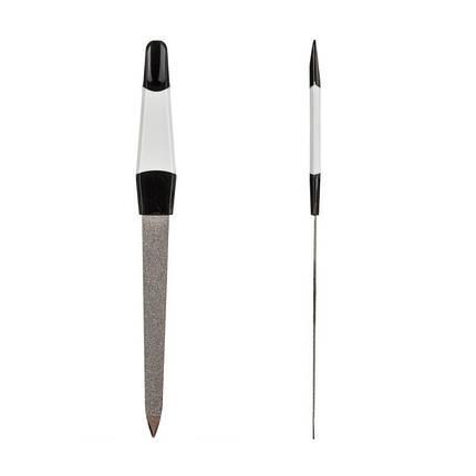 Пилка для ногтей Zinger №k-22 с цветной ручкой, средняя, фото 2