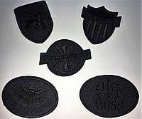 Нашивки (аппликации) для одежды черные, разные