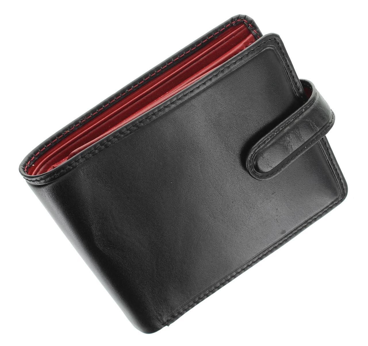 Черно-красное портмоне Visconti TR35 black\red (Великобритания)