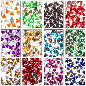 Стразы для ногтей, 12шт, треугольные, фото 2