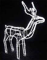 Олень новогодний светодиодный 120см., Белый