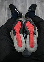 Кроссовки мужские на меху Nike Air Max 270 Монарх черные с белым знаком топ реплика, фото 3