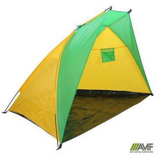Намет (палатка) Пляжний BT002 жовто-зелений AMF