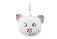 Подушка-грелка с семенами льна свинка 10х13см