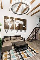 """Большие настенные панно - """"Карта мира"""" из дерева 3*1,5м, фото 1"""