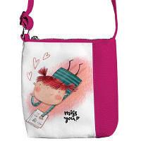 """Cумка детская через плечо """"Девочка Miss you"""",сумки для девочек"""