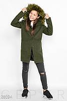 Теплое демисезонное пальто Gepur 28034, фото 1