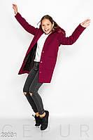 Пальто с капюшоном Gepur 28031, фото 1
