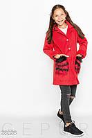 Пальто с отделкой Gepur 28028, фото 1