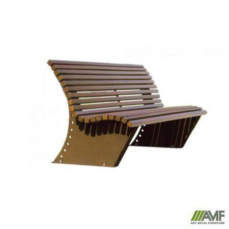 Лавка вулична з натуральної деревини Роялта AMF