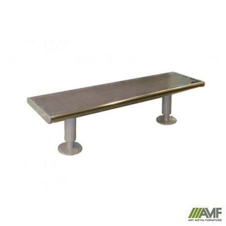 Лавка металева антивандальна без спинки Аліса AMF