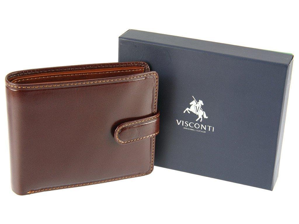Портмоне коричнево-рыжего Visconti TR35 brown/tan (Великобритания)