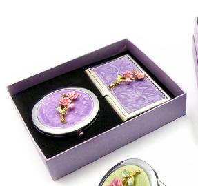Подарочный набор зеркальце с визитницей (15,5х12,5х3,5 см)