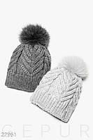 Однотонная зимняя шапка Gepur 27961, фото 1