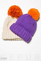 Яркая вязаная шапка Gepur 27927, фото 1