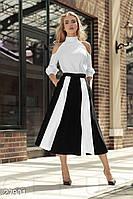 Двухцветная расклешенная юбка Gepur 27901, фото 1