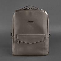 """Городской кожаный рюкзак на молнии Cooper """"Мокко"""""""