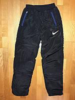 Зимние штаны плащевка на синтепоне и флисе для мальчика подростка., фото 1
