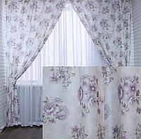 """Комплект готовых штор коллекция """"Прованс""""   Код 219ш 2 шторы шириной по 1.5м."""