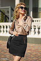Однотонная юбка-мини Gepur 27825, фото 1