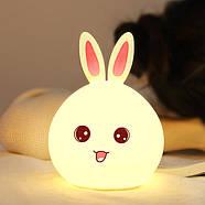 Touch светильник Зайчик Розовые ушки (с пультом ДУ), фото 3
