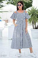 Легкое платье в полоску Gepur 27807, фото 1
