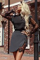Шелковая блуза с прозрачным рукавом Gepur 27798, фото 1