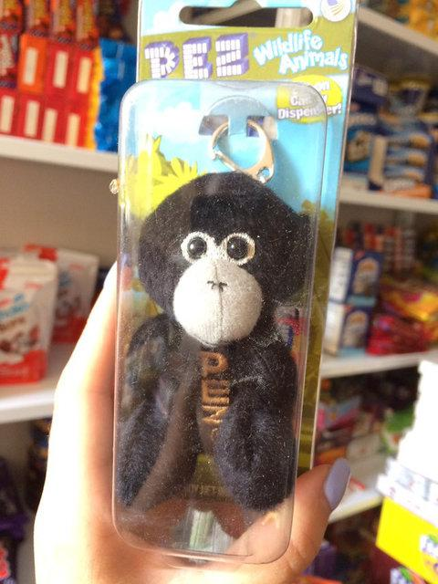 Брелок PEZ горила мягкий