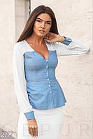 Комбинированная женская блуза Gepur 27771, фото 1