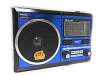 Радиоприемник-колонка Golon RX-277LSD Solar Черно-синяя  (3017_sp)