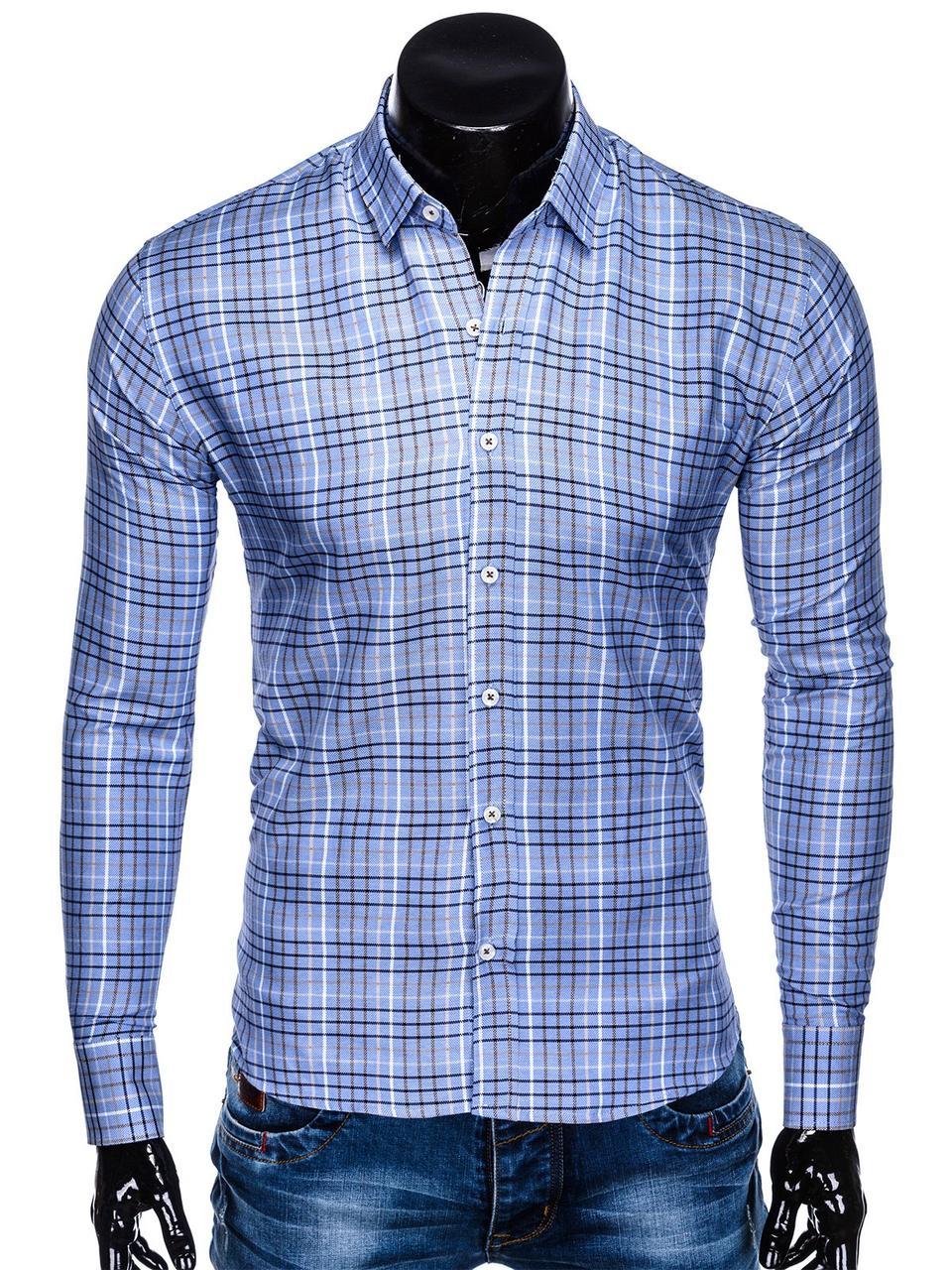 d9043050d35f0a7 Мужская Рубашка Мужская R452 - Голубой M, Голубой — в Категории ...