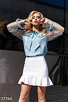Однотонная мини-юбка Gepur 27764, фото 1