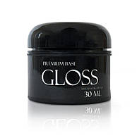 Gloss Premium Base - каучуковая основа для гель-лака без кисти, 30 мл