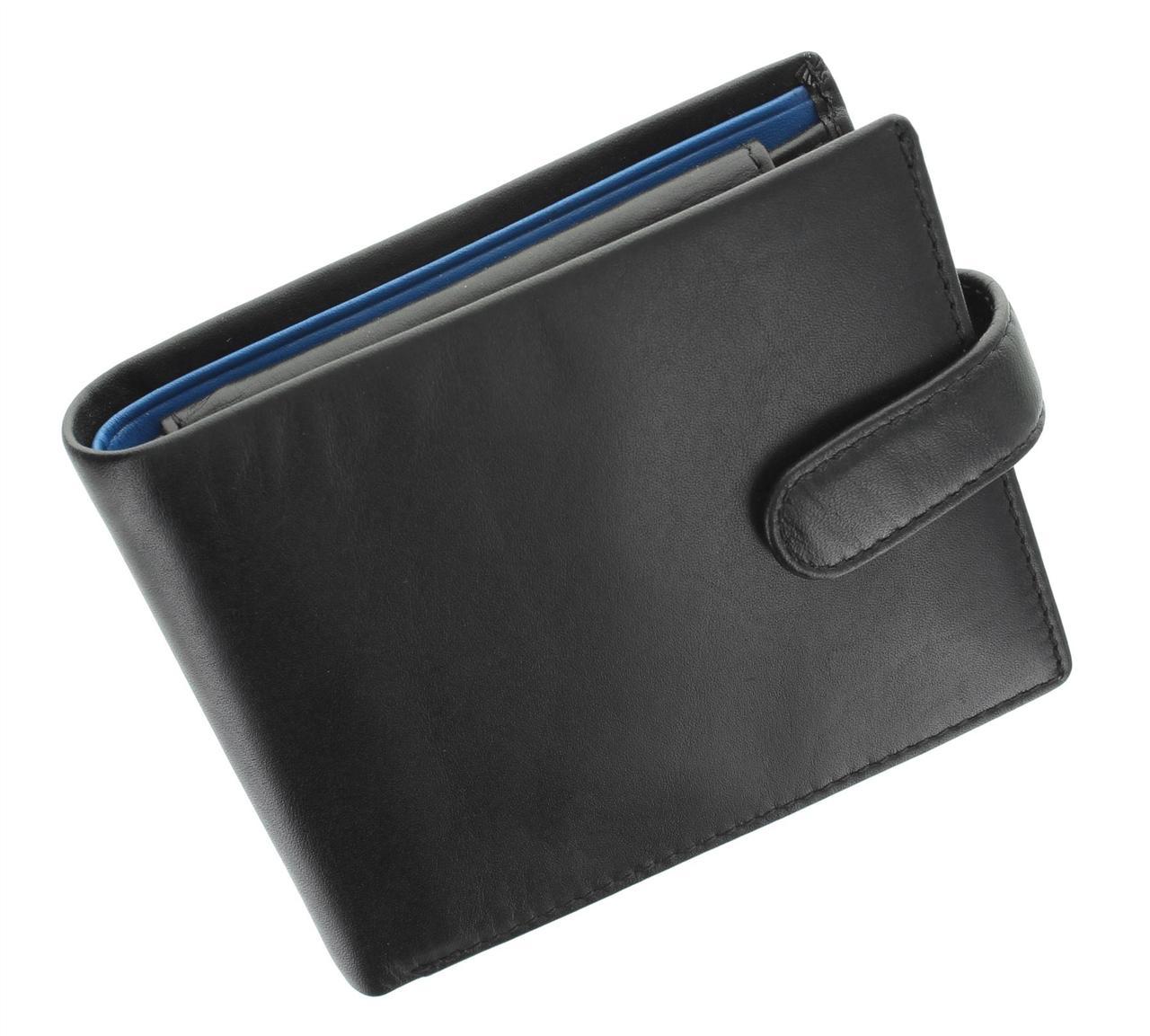 Черно-синее портмоне Visconti PM102 black/cobalt (Великобритания)