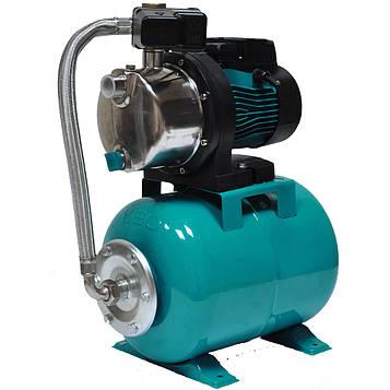 Станція 0.6 кВт Hmax 35м Qmax 50 л/хв (самовсас. насос нерж) 24л LEO (776251)